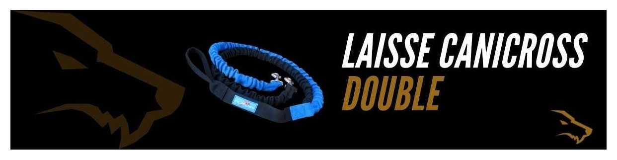 Laisse Canicross Double : Courir Avec 2 Chiens